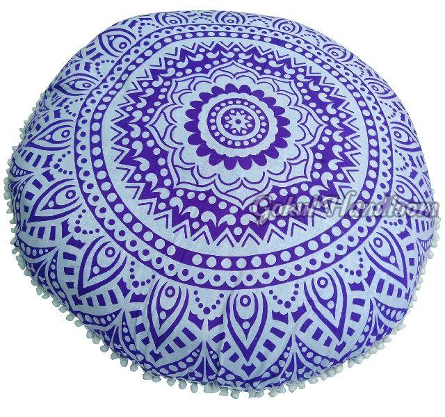 Purple Ombre Mandala Cushion Cover