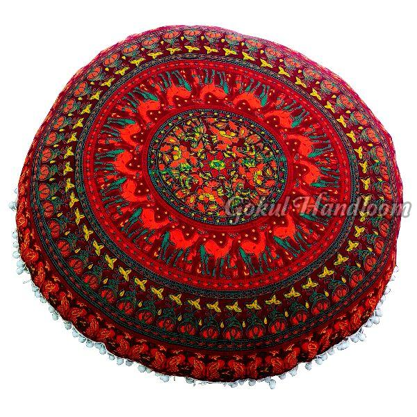 Red Ottoman Mandala Cushion Cover