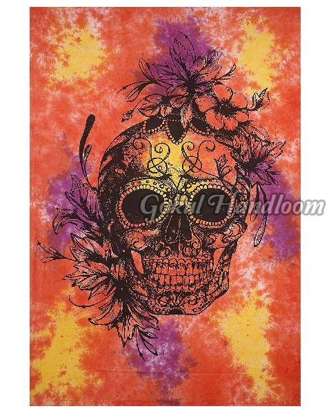 Skull Designs Cotton Wall Hanging Tapestry