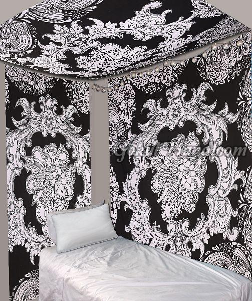 Black & White Cotton Wall Hanging Tapestry