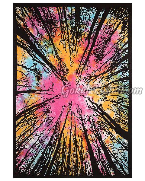 Tie Dye Forest Cotton Wall Hanging Tapestry