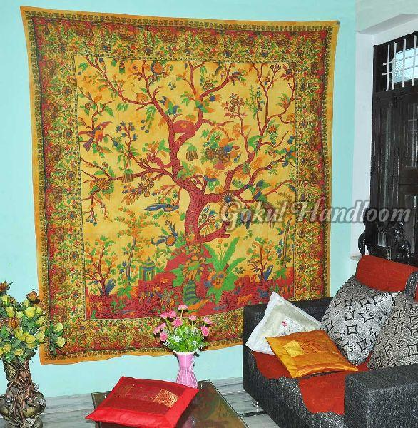 Tree of Life Cotton Wall Hanging Tapestry