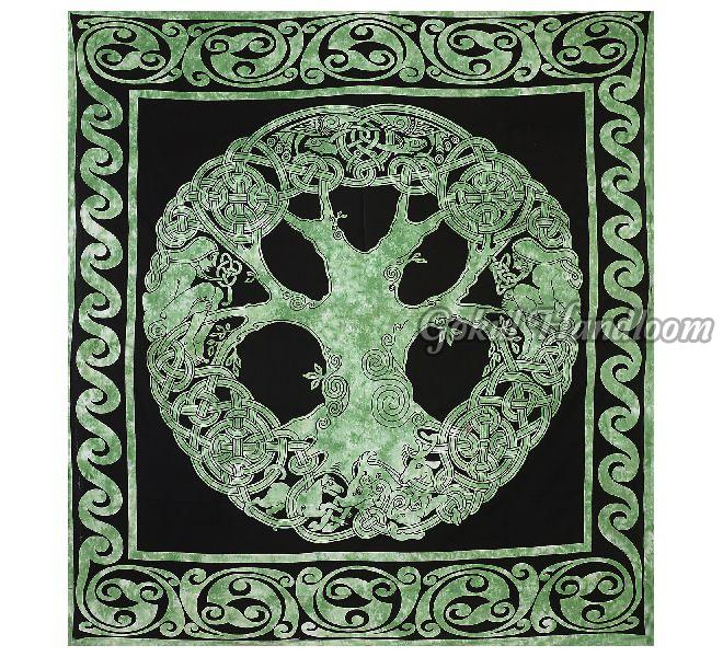 Tree of Life Tapestry Cotton Wall Hanging Tapestry