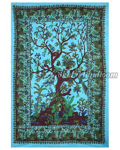 Tree of Life Tie Dye Cotton Wall Hanging Tapestry