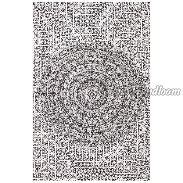 Twin Black & White Cotton Wall Hanging Tapestry