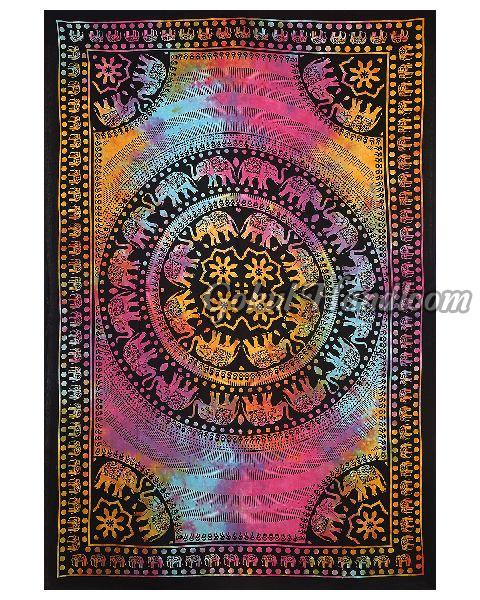 Twin Multi Tie Dye Cotton Wall Hanging Tapestry
