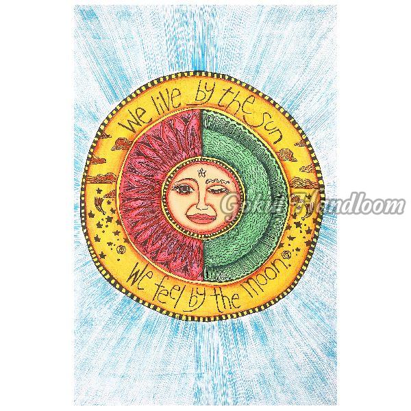 We Live By the Sun Cotton Wall Hanging Tapestry