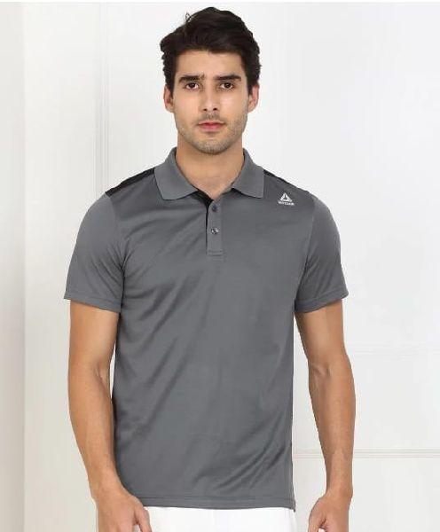 Mens Grey Polo T Shirt