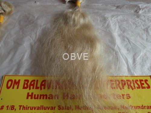 Silky White Human Hair