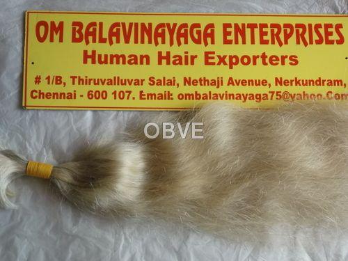Single Drawn White Human Hair