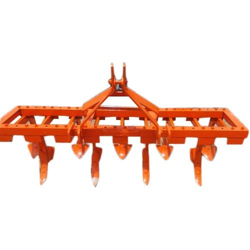 Orange Agricultural Tractor Cultivator
