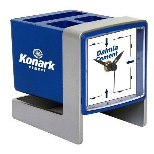 Analog Table Clock with Pen Stand