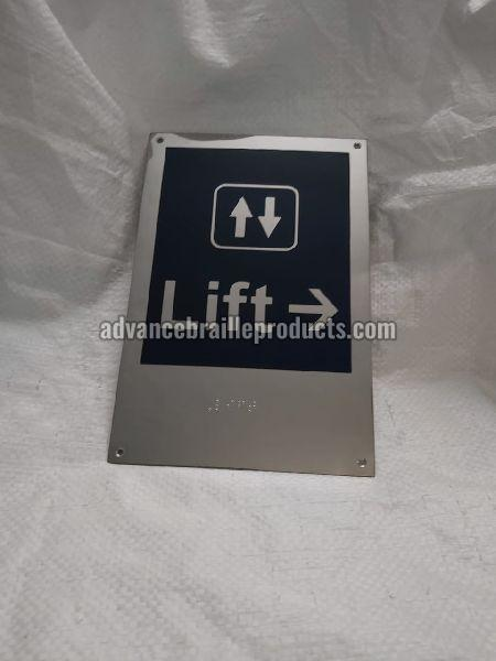 Braille Signage plates in Stainless Steel