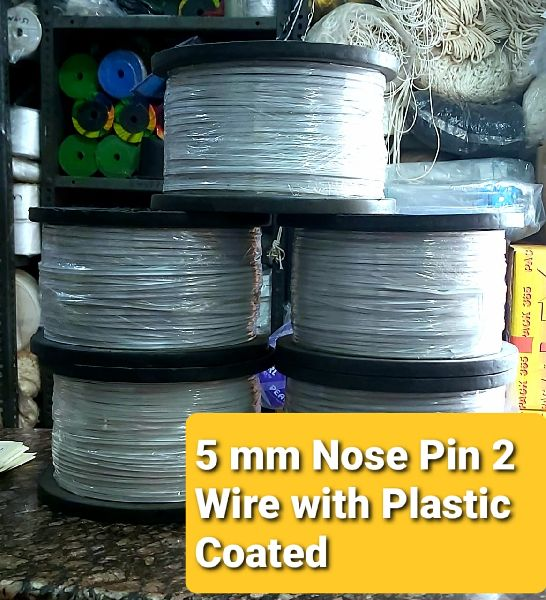 Nose Pin 2 Wire With Plastic Coated