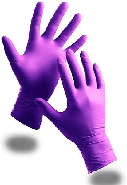 Purple Nitrile Gloves