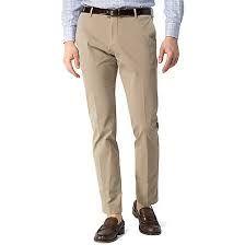Mens Beige Cotton Trouser