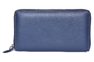 Royal Blue Leather Ladies Wallet