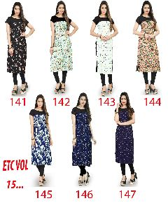 ETC VOL-141-147 Designer Printed Kurtis