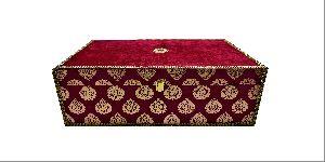 Red Velvet Lehenga Box