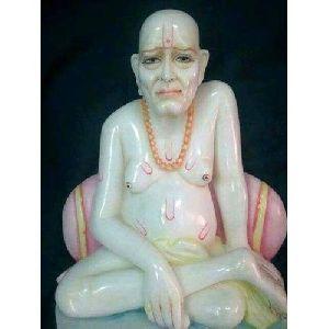 Jain Muni Marble Statue
