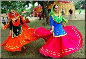 Punjabi  Giddha Dress