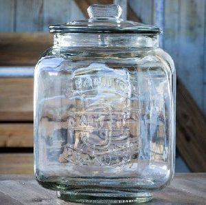 Glass Peanut Jar