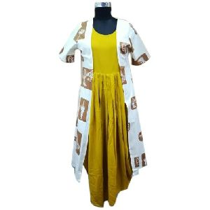 Cotton Kurti with Jacket