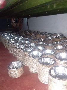 Silver Coated Paper Bowls