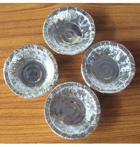 Silver Laminated Paper Bowls