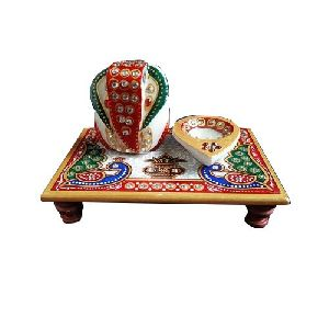 Decorative Marble Ganpati Chowki