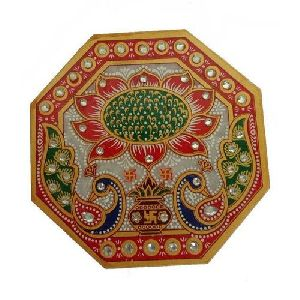 Decorative Marble Pooja Chowki