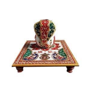 Fancy Marble Ganpati Chowki