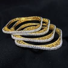 Square American Diamond Bangles