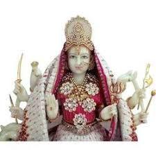Marble Radha Maa Statue