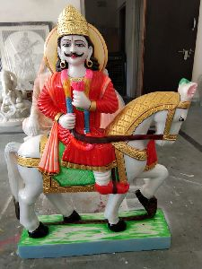 Marble Ram Dev Baba Statue