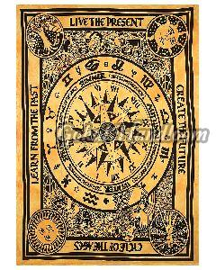 Astrology Hippie Cotton Wall Hanging Tapestry