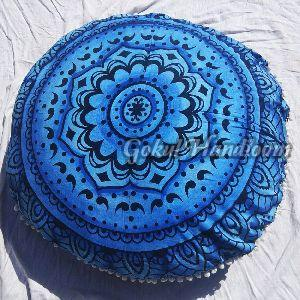 Blue Mandala Cushion Cover