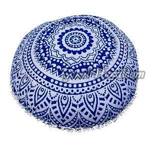Blue Ombre Mandala Cushion Cover