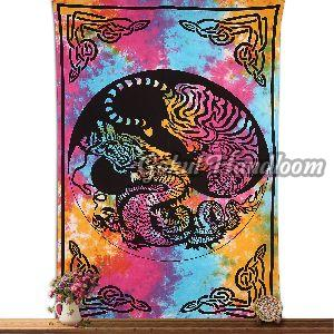 Dragon Tiger Cotton Wall Hanging Tapestry