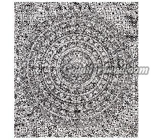 Elephant Black & White Mandala Cotton Wall Hanging Tapestry