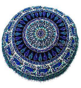Elephant & Peacock Mandala Cushion Cover