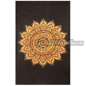 Exclusive Yellow  Cotton Wall Hanging Tapestry