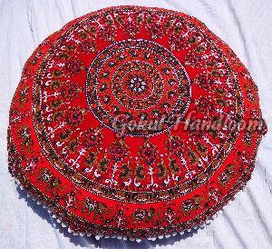 Gray & Brown Elephant Mandala Cushion Cover