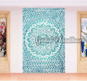 Green Ombre Cotton Wall Hanging Tapestry