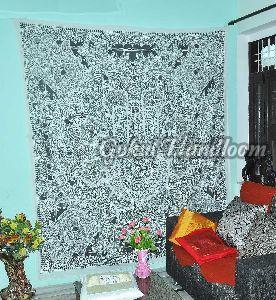 Hamsa Hand Good Luck Cotton Wall Hanging Tapestry