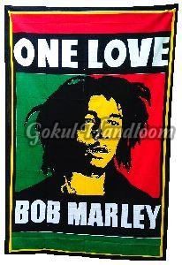 One Love Cotton Wall Hanging Tapestry