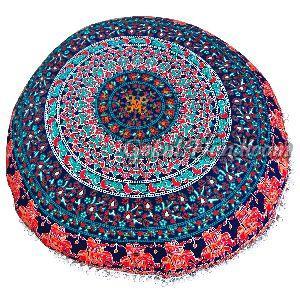 Peacock Mandala Cushion Cover