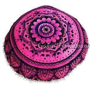 Pink Brush Mandala Cushion Cover