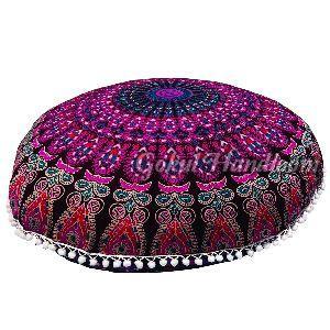 Pink Mandala Cushion Cover
