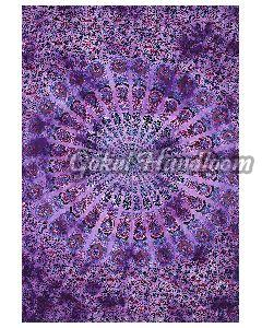 Psychedelic Peacock Cotton Wall Hanging Tapestry